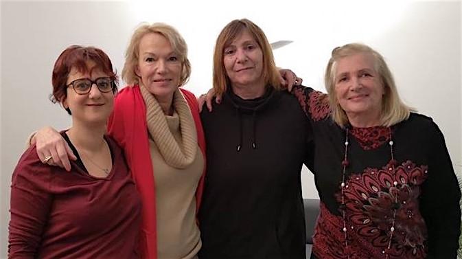 ©Stéphanie Berrebi De gauche à droite : Stéphanie Berrebi – Brigitte Lahaie – Florence Cortès – Docteur Patricia Martin- Lamanthe